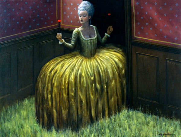 Entranced | oil on panel | 122x155cm | 1997 | Mike Worrall