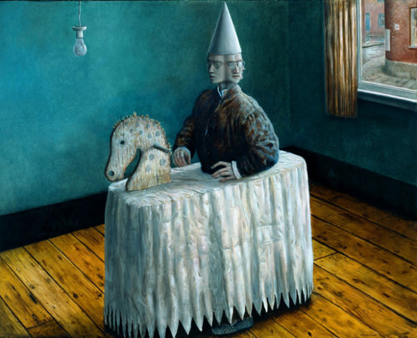 The Never Ever Room | oil on panel | 122x155cm | 1998 | Mike Worrall