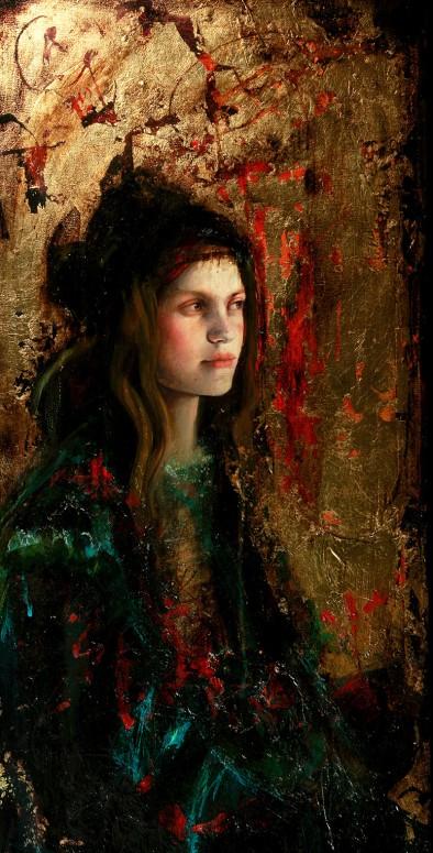 "Intervalo   mixed media on canvas   16"" x 35""   2010   Sol Halabi"