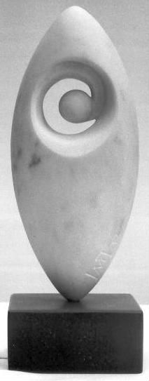 Fish   Cararra Marble with Slate Base   Ian Thomson