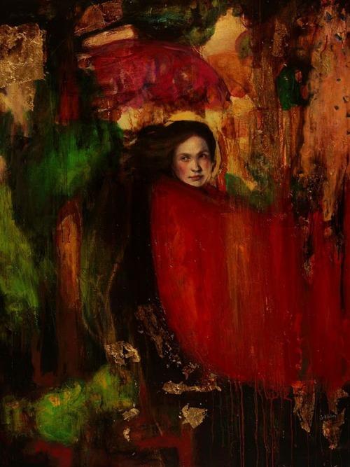 """La Nave Va   Mixed media on canvas   3"""" x 51"""" (100 cm x 130 cm)   2010  Sol Halabi"""