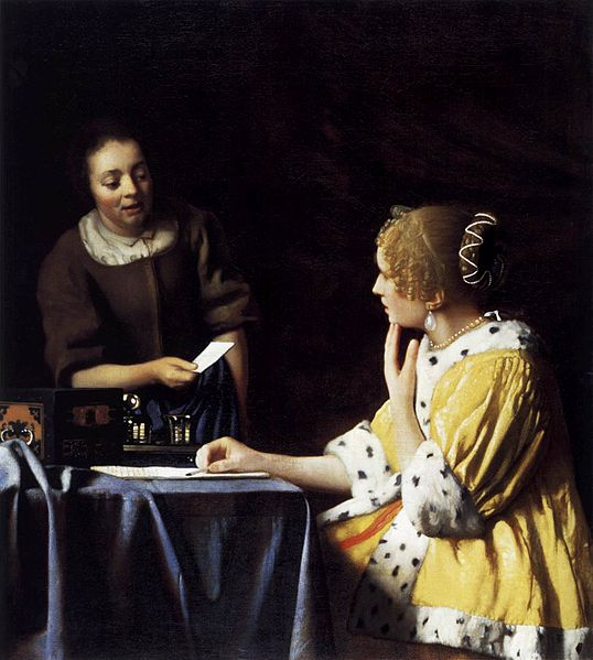 Lady with Her Maidservant Holding a Letter | Johannes Vermeer