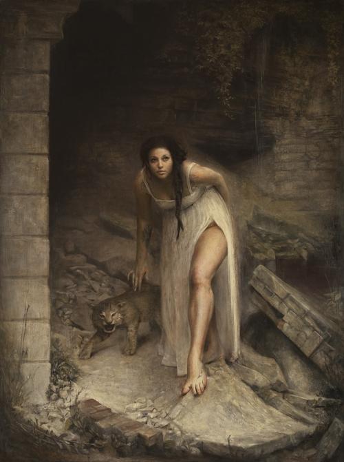 "Luke Grotto | 68"" x 51"" | Model: The artist's wife, Michelle | Luke Hillestad"