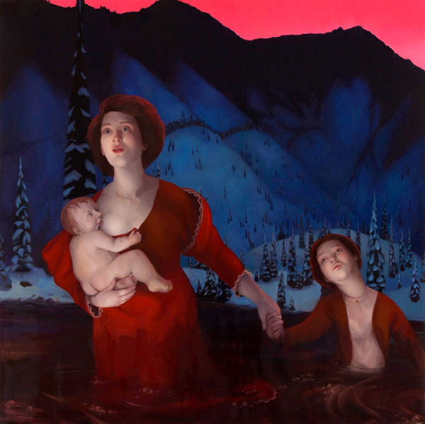 Into the Frey | 2012 | Oil on Canvas on Panel | 4x4 ft | Laura Krifka
