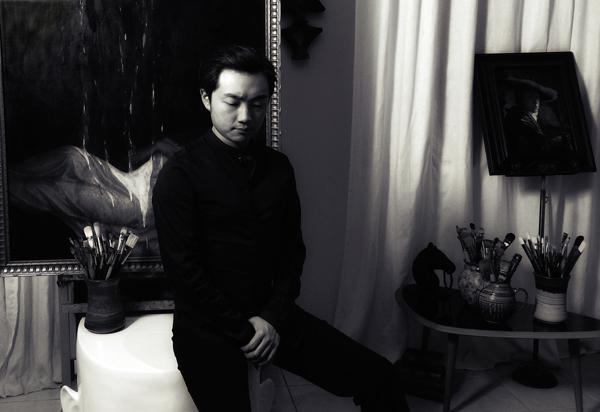 Vincent Xeus in his studio