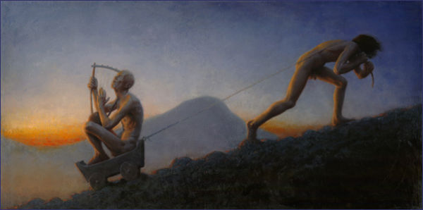 A Dying Art oil on linen, 36 x 72 inches, 2010 collection of the artist