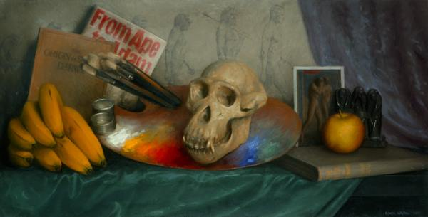 The Music of Tomorrow, Oil on linen, 15x30, 2006