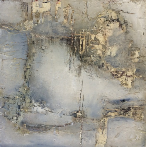 "Twice Turned and Squared oil and cold wax on panel © All Rights Reserved 16"" H x 16"" W SOLD"