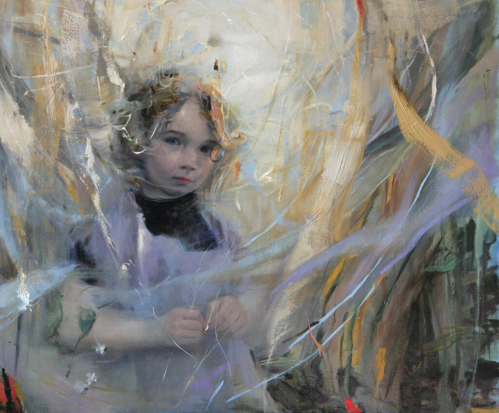 "Visible Thread | oil on linen | 30"" x 36"" 