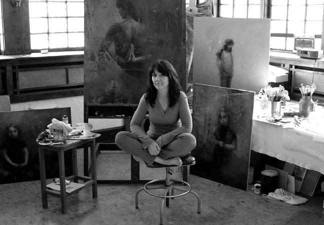 Stanka in her studio