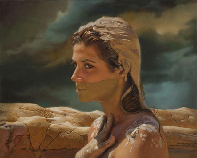 Teresa ElliottAqua - Fria Oil on Aluminum 24 × 30 in 61 × 76.2 cm