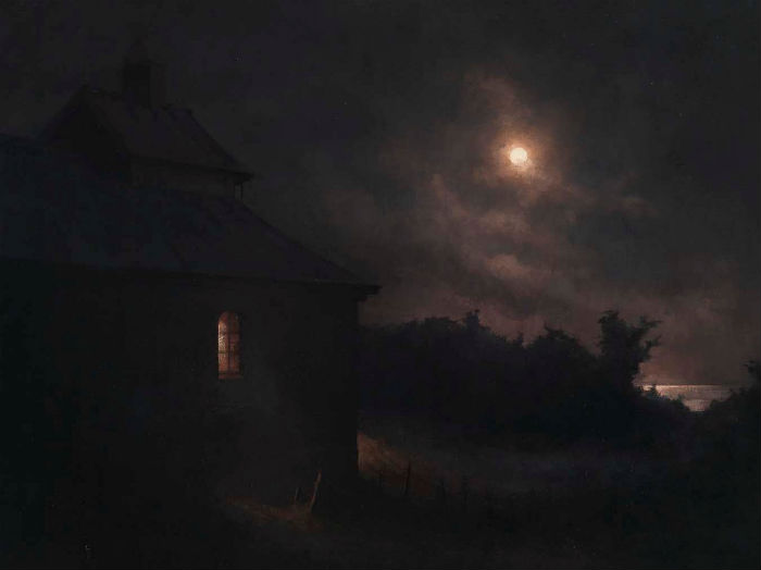 October Full Moon | Oil on canvas |  29 1/2 x 37 3/8 inches | 2010 |  Joakim ERICSSON (b. 1972)