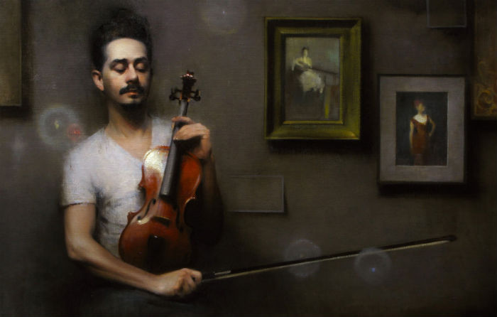 The Violinist | Oil on Canvas | Stephen Bauman | 2012