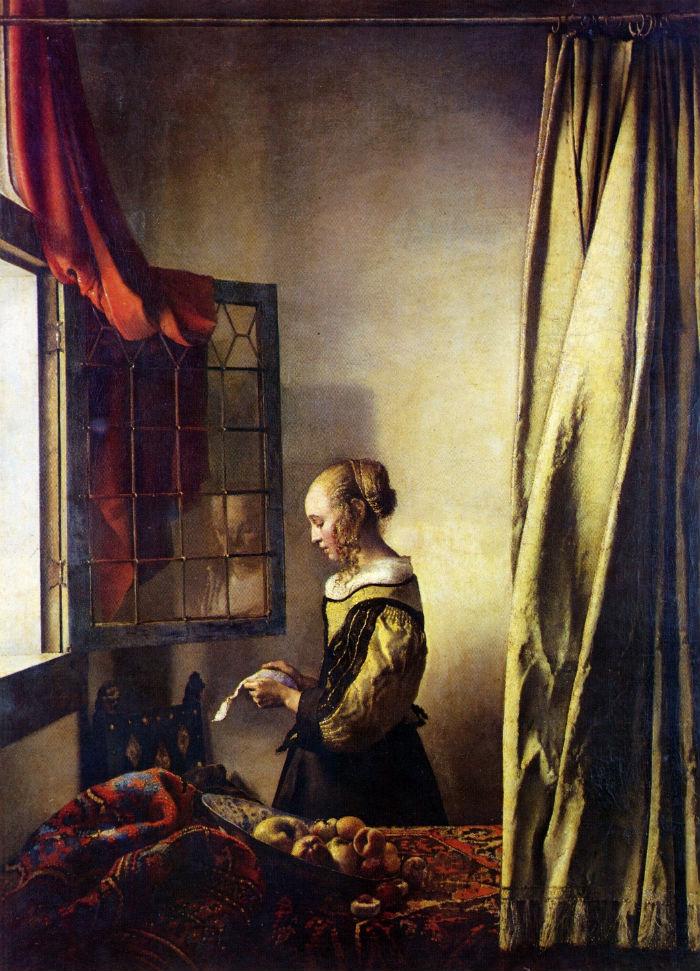 700 Johannes Vermeer (Dutch 1632-1675) Girl Reading a Letter at an Open Window 1657
