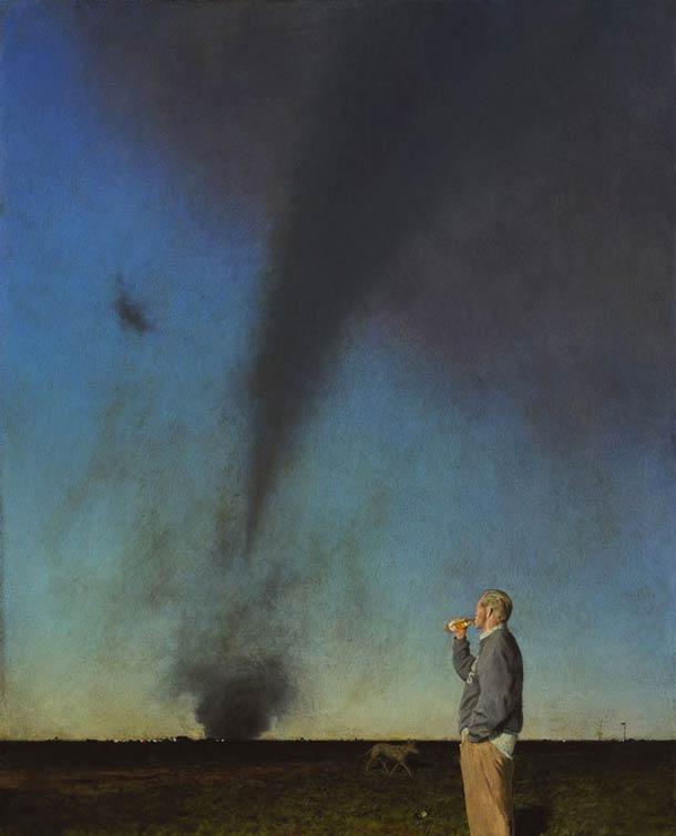 Jerk in a Field | 36 x 29 | oil on canvas | John Brosio