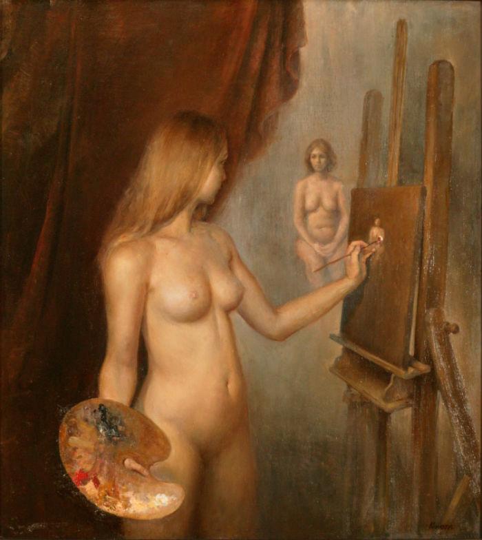 Painting session Helene Knoop 700