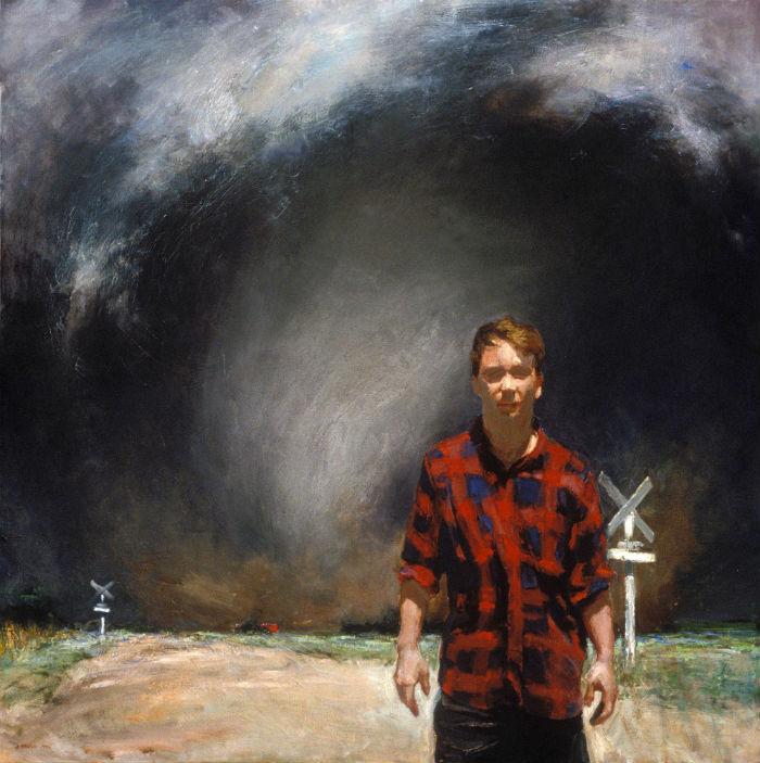 Harbinger (Self-Portrait) | 48 x 48 | oil on canvas | John Brosio