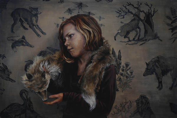 The Fables | 24 x 36 inches | Acrylic on Wood | 2014 | Mary Chiaramonte