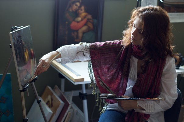 Adrienne Stein painting