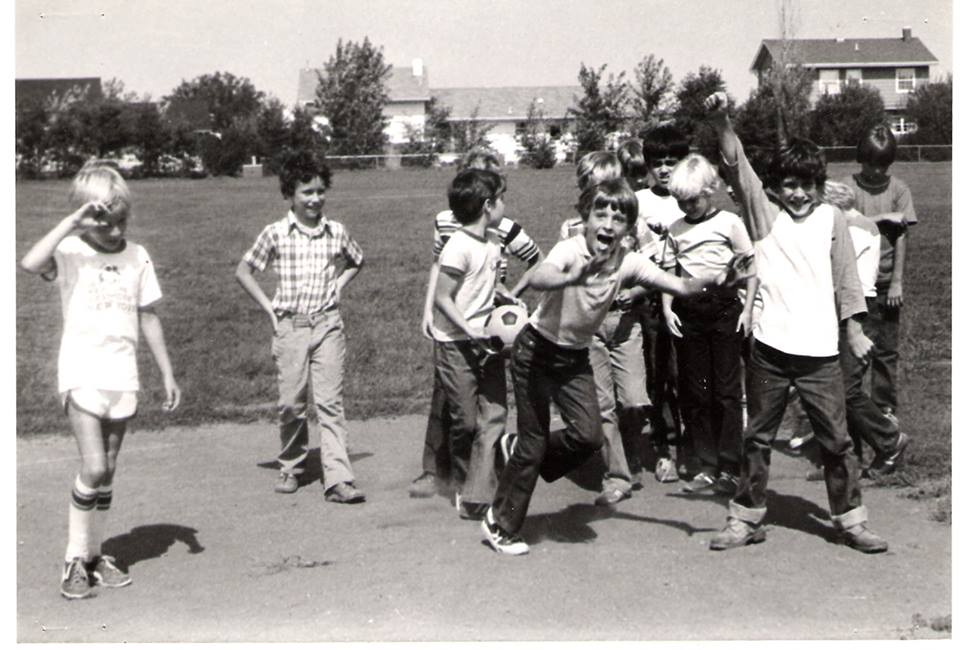 Ralph Pennel as a young boy, hanging out with his grade school friends.