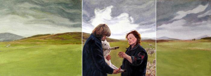 Strath of Kildonan- Louise   28 x 77   Oil on linen   Christina Sealey