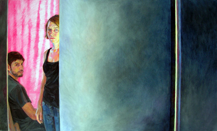 The Interior (after Degas), Fernando and Ruby | 24 x 40 | Oil on Linen | Christina Sealey