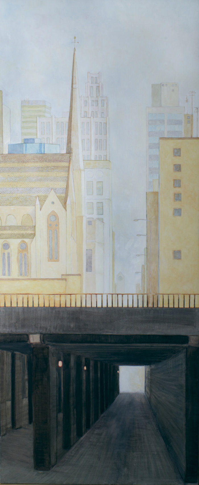 The Underpass | 90 x 36 | Oil on linen Christina Sealey