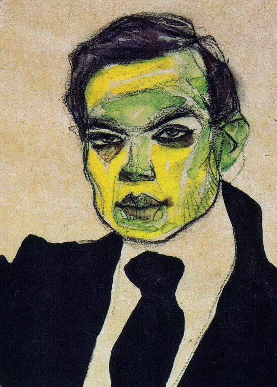 Porträt des Max Oppenheimer (detail) | 1910 | Egon Schiele