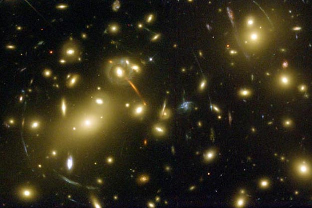 Abell 2218: A Galaxy Cluster Lens. (Credit: Andrew Fruchter, NASA)