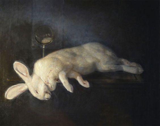 Br'er Rabbit (SOLD) | oil | 26 H x 31.9 W x 2 in | Richard T. Scott