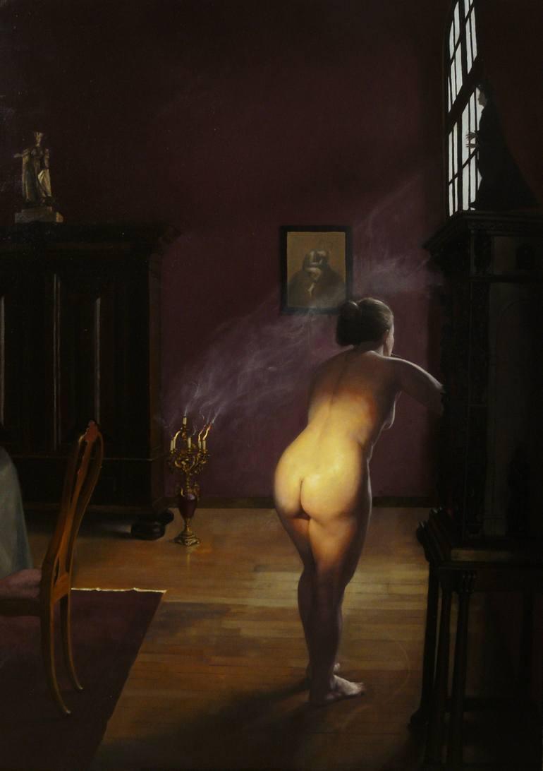 "What Remains | oil on linen | 38"" x 54"" | Richard T. Scott"