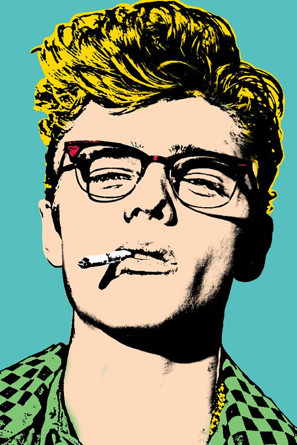 James Dean by pop art icon, Andy Warhol