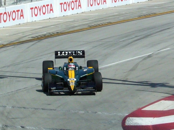 Takuma Sato on the streets of Long Beach