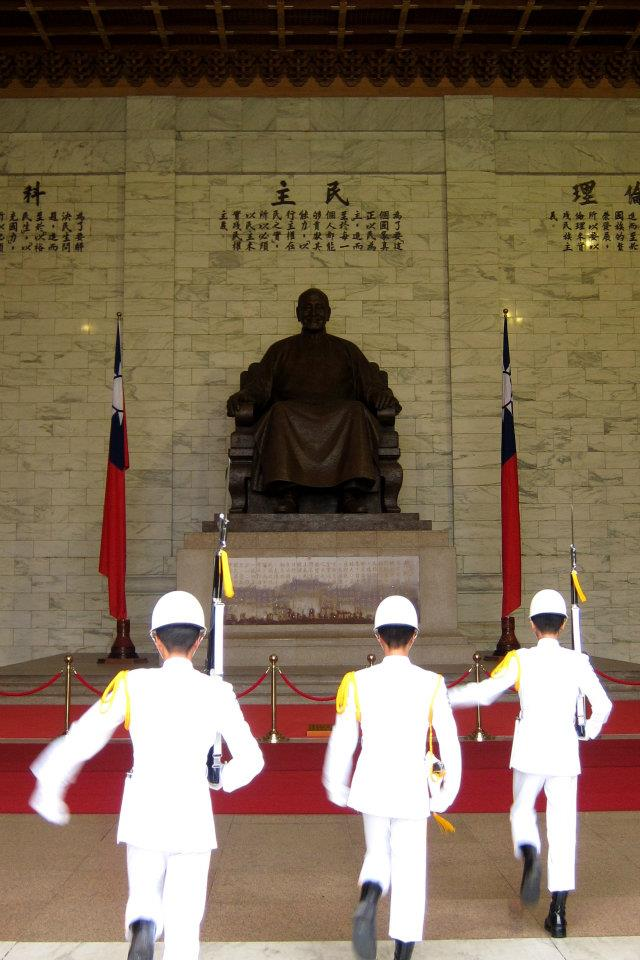 Guards at the Chiang Kai-shek Memorial Hall in Taipei