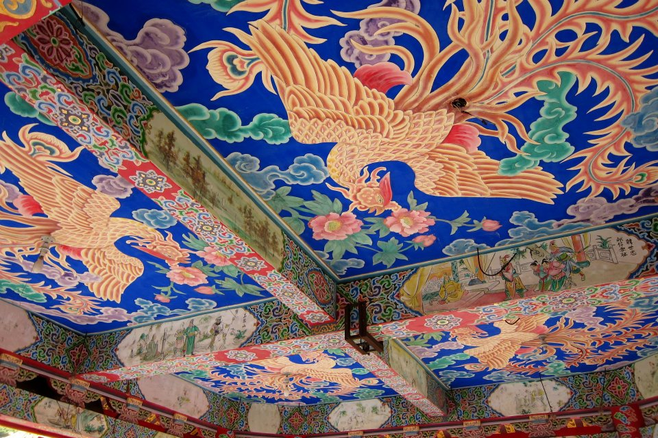 Ceiling of Guandu Temple, Taipei