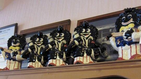 Gollywog dolls in Bullivant of York tea room
