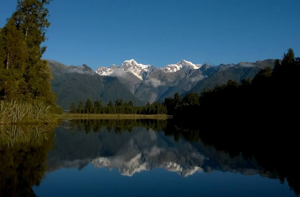 Where you can see Mount Cook and Tasman reflected in the lake