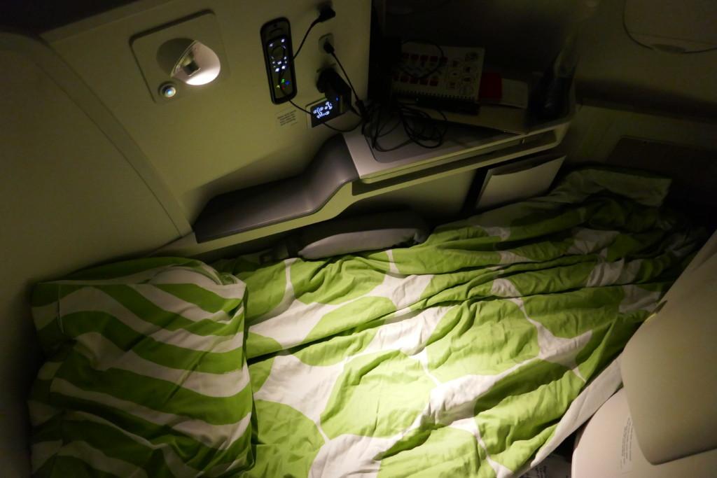 Finnair flat bed