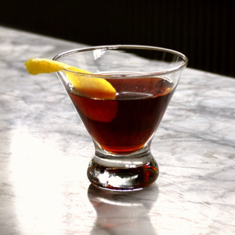 Maple Sazerac cocktail