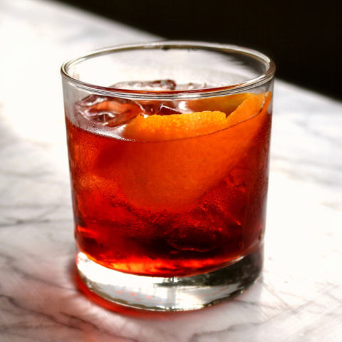 Mezcal Negroni cocktail