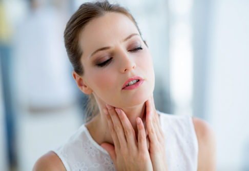 acid reflux in throat