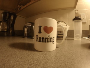 I heart running coffee mug -- achieving millennial