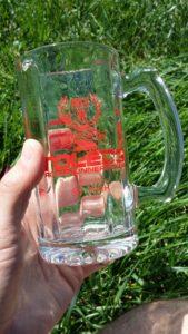 2016 glass city marathon finisher's mug -- achieving millennial