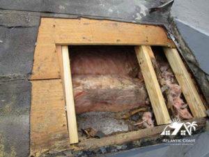tile roof wood repair