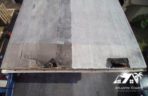 flat roof damage