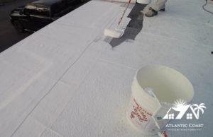 flat roof repair waterproof coating