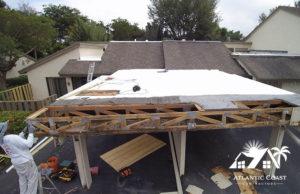 flat roof repair process roofing