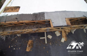 flat roof repair wood removal