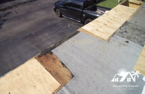 flat roof new wood replacement