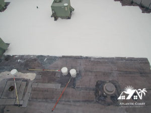 r400 rubber installation commercial roof